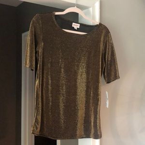 Lularoe Large Bronze Gigi Top: Elegant Collection